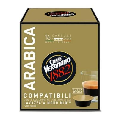 Caffè Vergnano 1882 Arabica - 16 капсули, съвместими с Lavazza A Modo Mio