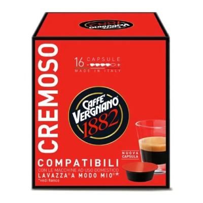 Caffè Vergnano 1882 Cremoso - 16 капсули, съвместими с Lavazza A Modo Mio