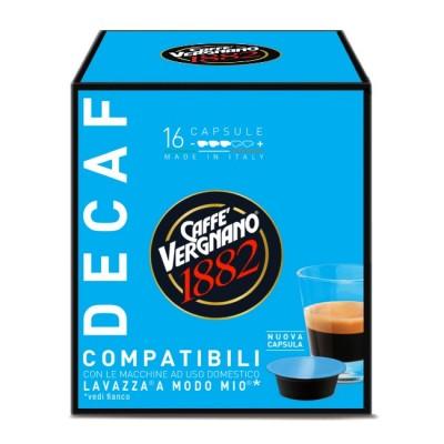 Caffè Vergnano 1882 Decaf - 16 капсули, съвместими с Lavazza A Modo Mio