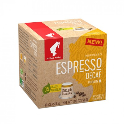 Julius Meinl Inspresso Decaf - капсули, съвместими с Nespresso - 10 броя