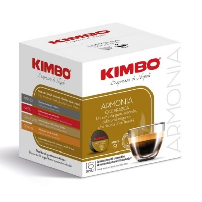 Kimbo Armonia 100% Arabica - 16 капсули, съвместими с Dolce Gusto