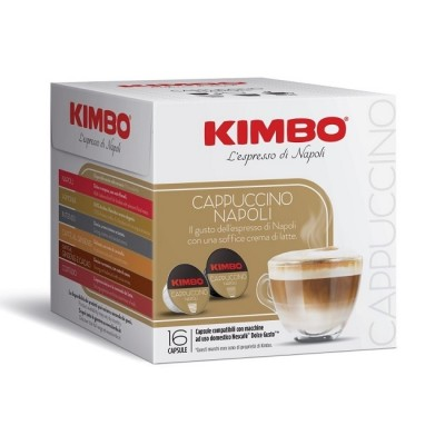 Kimbo Cappuccino Napoli - 16 капсули, съвместими с Dolce Gusto