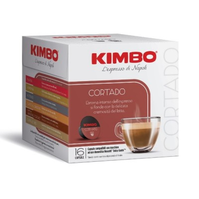 Kimbo Cortado - 16 капсули, съвместими с Dolce Gusto
