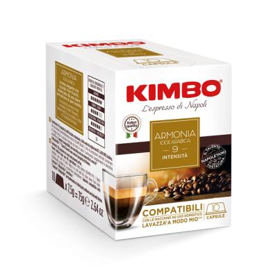 Kimbo Armonia 100% Arabica - 10 капсули, съвместими с Lavazza A Modo Mio