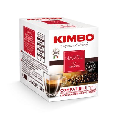 Kimbo Napoli - 10 капсули, съвместими с Lavazza A Modo Mio
