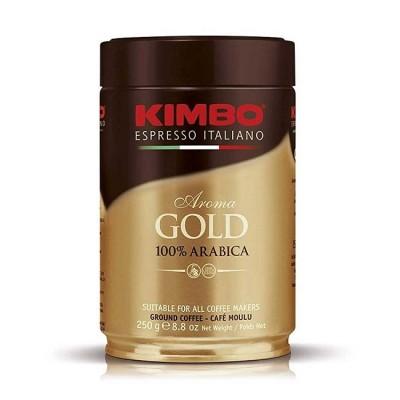 Kimbo Aroma Gold 100% Arabica – 250 г мляно кафе в метална кутия