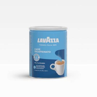 Lavazza Caffè Decaffeinato - безкофеиново мляно кафе в кен 250 г