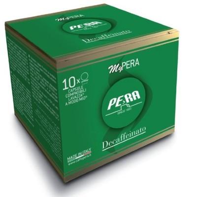 Pera Decaffeinato - 10 капсули, съвместими с Lavazza A Modo Mio