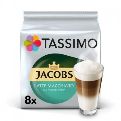 Tassimo Jacobs Latte Macchiato с по-малко захар - 8 напитки