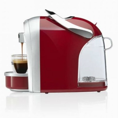 Капсулна кафемашина Caffitaly System DIADEMA S16 - сребристо и червено