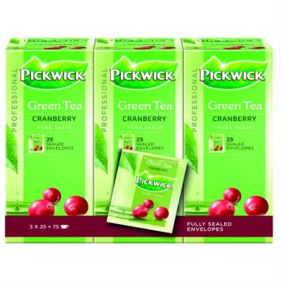 Чай Pickwick Single – Зелен чай с червена боровинка 25 бр.
