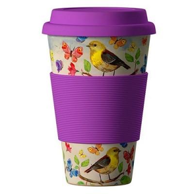 Еко чаша от бамбук Птици 400 мл