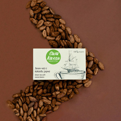 Casa Kakau зелен чай с какаови зърна