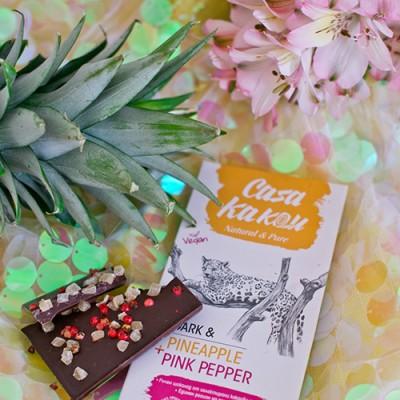 Casa Kakau шоколад с ананас и розов пипер