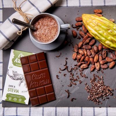 Casa Kakаu черен шоколад със стевия без захар