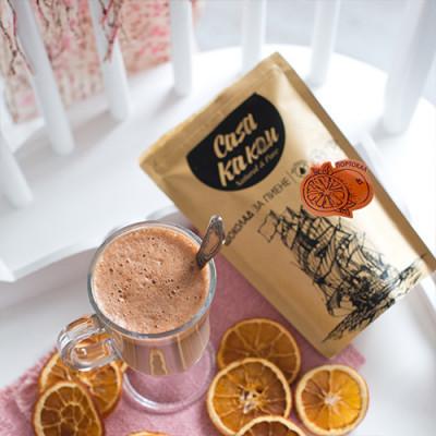 Casa Kakаu шоколад за пиене с портокал 70%