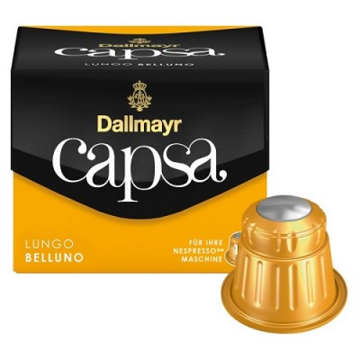 Dallmayr Capsa Lungo Belluno XXL - 39 капсули, съвместими с Nespresso