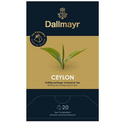 Dallmayr Pyramid Teabags - чай Black Tea Ceylon BOP - 20 пирамидки