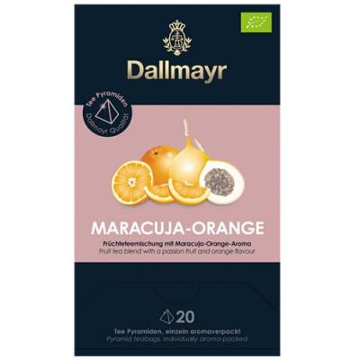 Dallmayr Pyramid Teabags Bio - чай Маракуя и портокал - 20 пирамидки