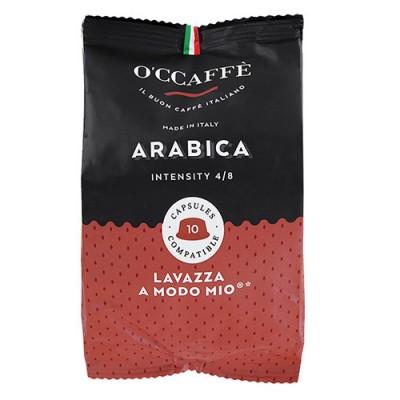 O'CCAFFÈ Arabica - 10 капсули, съвместими с Lavazza A Modo Mio