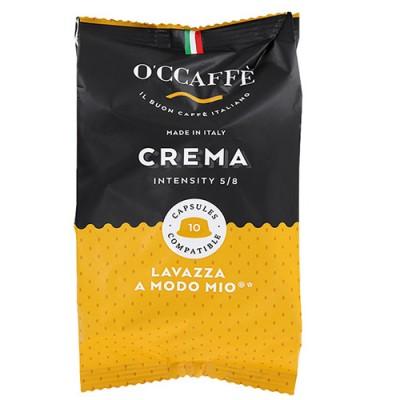 O'CCAFFÈ Crema - 10 капсули, съвместими с Lavazza A Modo Mio