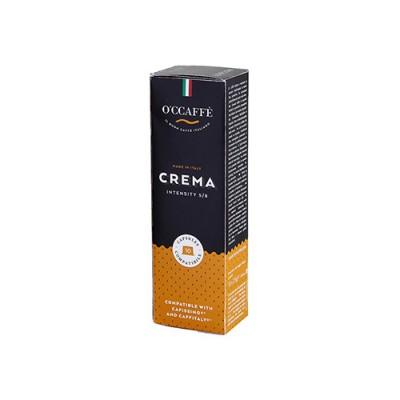 O'CCAFFÈ Crema - 10 капсули, съвместими с Cafissimo/Caffitaly