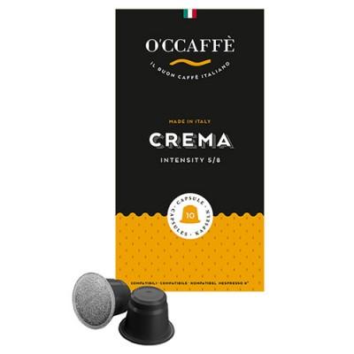 O'CCAFFÈ Crema - 10 капсули, съвместими с Nespresso