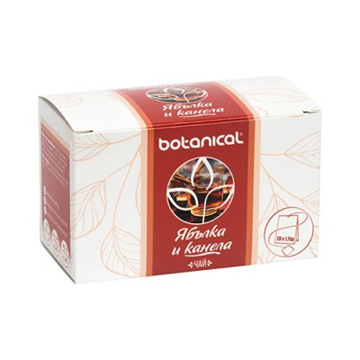 Чай Botanical Ябълка и канела - 20 бр.