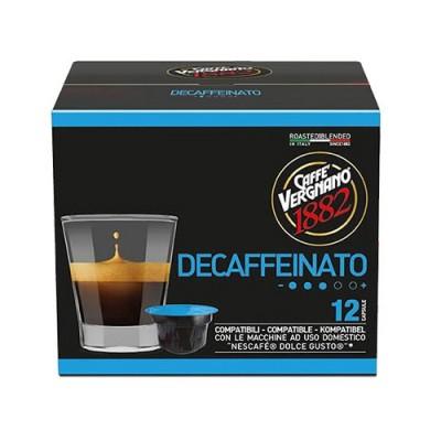 Caffè Vergnano 1882 Decaffeinato - 12 капсули, съвместими с Dolce Gusto