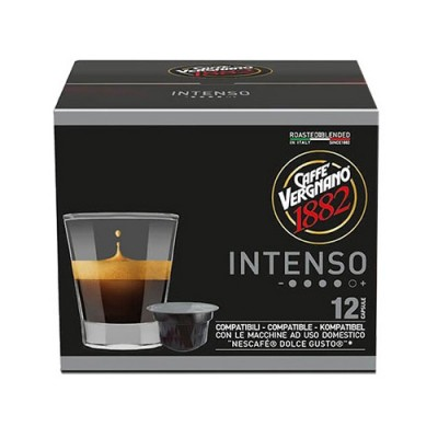 Caffè Vergnano 1882 Intenso - 12 капсули, съвместими с Dolce Gusto