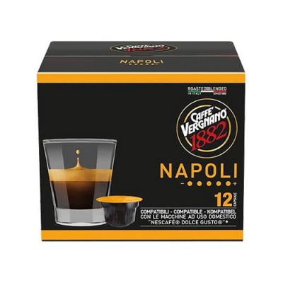 Caffè Vergnano 1882 Napoli - 12 капсули, съвместими с Dolce Gusto