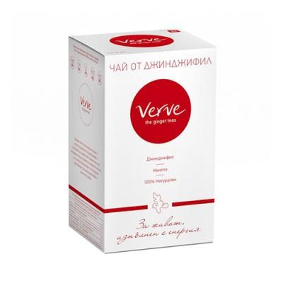 Чай Verve Classic Ginger - джинджифил, канела и портокалови корички - 20 сашета
