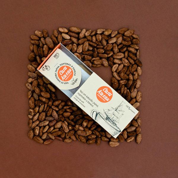 Чай от какаови зърна, портокал и канела